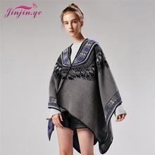 a3d38245de3 QC Womens Ponchos and Capes Echarpe Foulard Femme Fashion Pashmina Kimono  Winter Cape Geometric