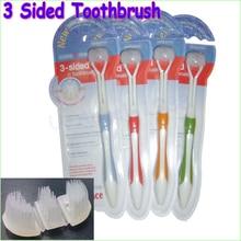 Ультрадисперсных сторон трех щетиной мягкой взрослых зубная щетка шт. с