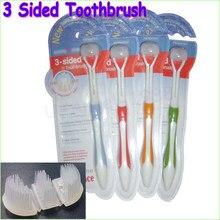 Brosse à dents 3 faces 2 pièces | Brosse à dents ultrafine à poils souples pour adulte