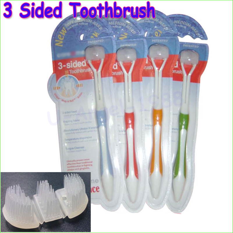1pcs three sides toothbrush ultrafine soft bristle adult toothbrush