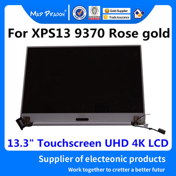 """MAD DRAGON Brand Laptop new 13.3"""" Touchscreen UHD 4K LCD Display Complete Assembly Rose gold For Dell XPS13 9370 03D643 01G79V"""