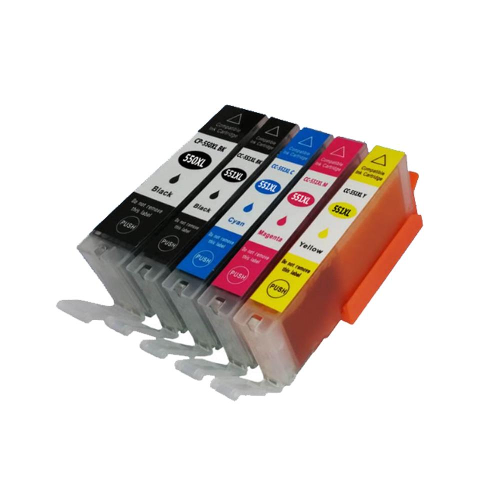 5PK совместимый чернильный картридж PGI550 PGI 550 551 PG-550 для Canon Pixma MG6350 MG7150 IP8750 MG-6350 MG-7150 IP-8750 MG 6350 7150