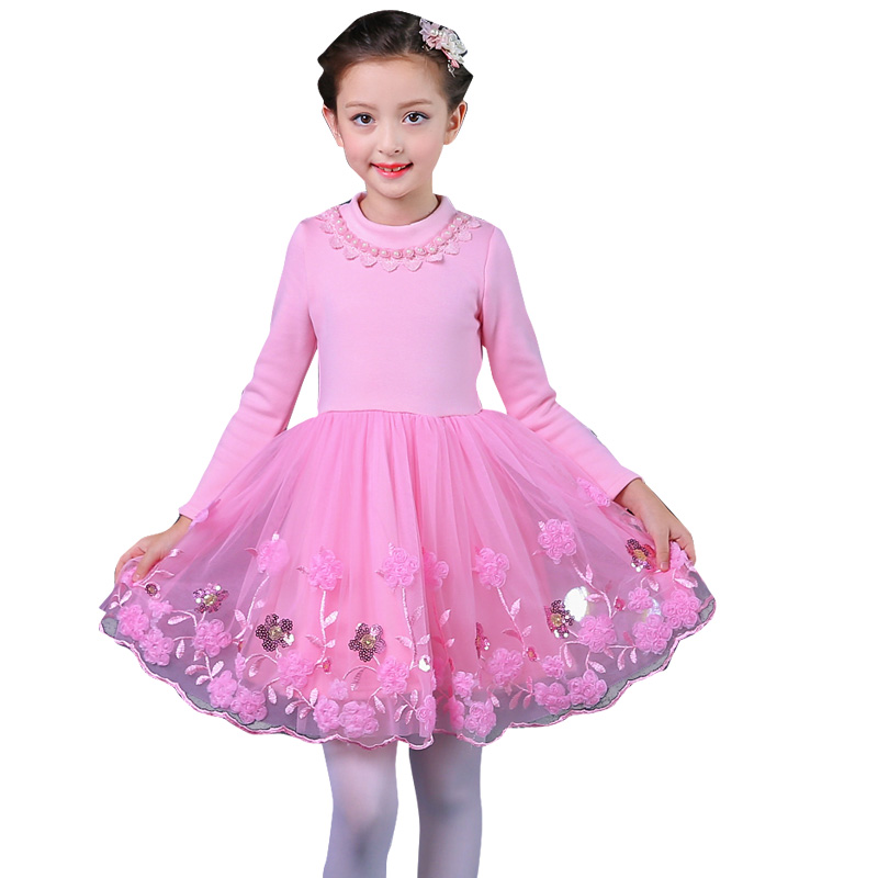 Fashion Embroider Flower Girl Dresses For Princess Birthday Party Kids Gown Long Sleeve Ruched Floral Bow Vestido 12 Year Girls girl dress princess floral autumn long sleeve gown party dresses kids clothes bow flower robe fille rapunzel kids dress 12 year