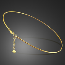 Women choker 100% 925 Sterling Silver Chain  Necklace Collana Kolye gold Jewelry Collares Mujer gargantilha Collier Femme