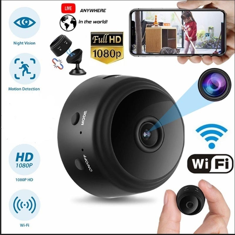 Mini IP Camera Wireless WiFi HD 1080P Hidden Home Security Cam Night Vision With Card
