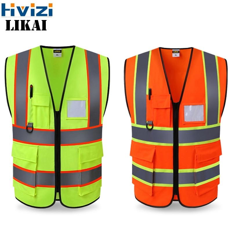 hivizi marca original colete workwear vestuario seguranca colete reflexivo colete de seguranca reflexivo logotipo impressao frete