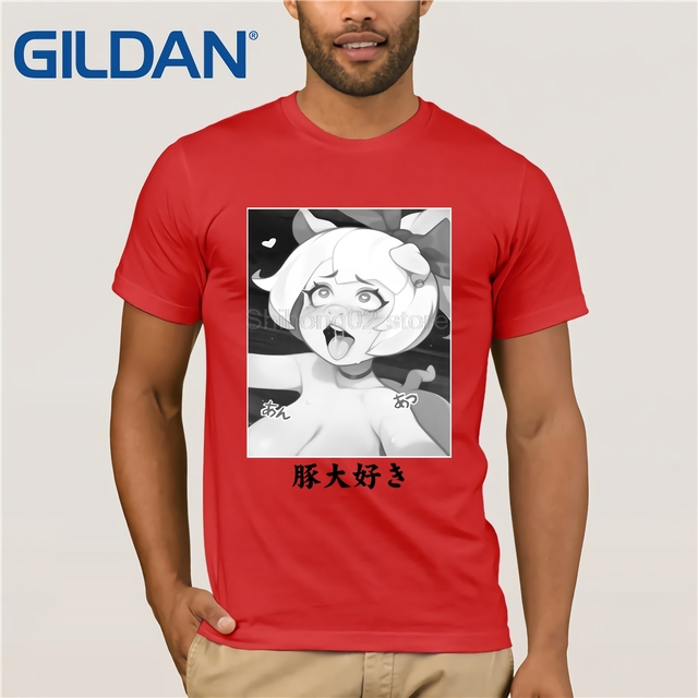 26df73783d47 GILDAN I Love Pigs Emelie Ahegao Design T Shirt-in T-Shirts from ...