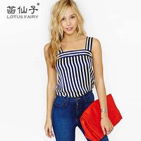 Lotus Fairy Women S Striped Camis Short Bustier Cheap Clothes China Summer Top For Girl Fashion