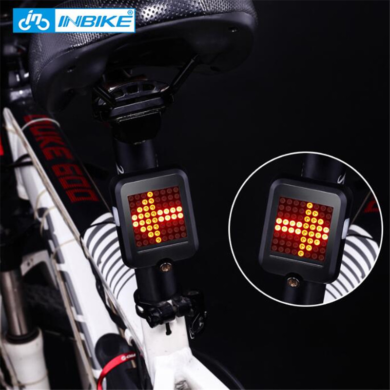 INBIKE Bicycle-Light Dirction-Indicator Usb-Charging Safety Aksesuar Bisiklet Automatic