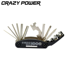 CRAZY POWER 15 in 1 Hand Bicycle Tools Sets Bike Bicycle Multi Repair Tool Kit Hex Spoke Wrench Mountain Cycle Screwdriver Tool