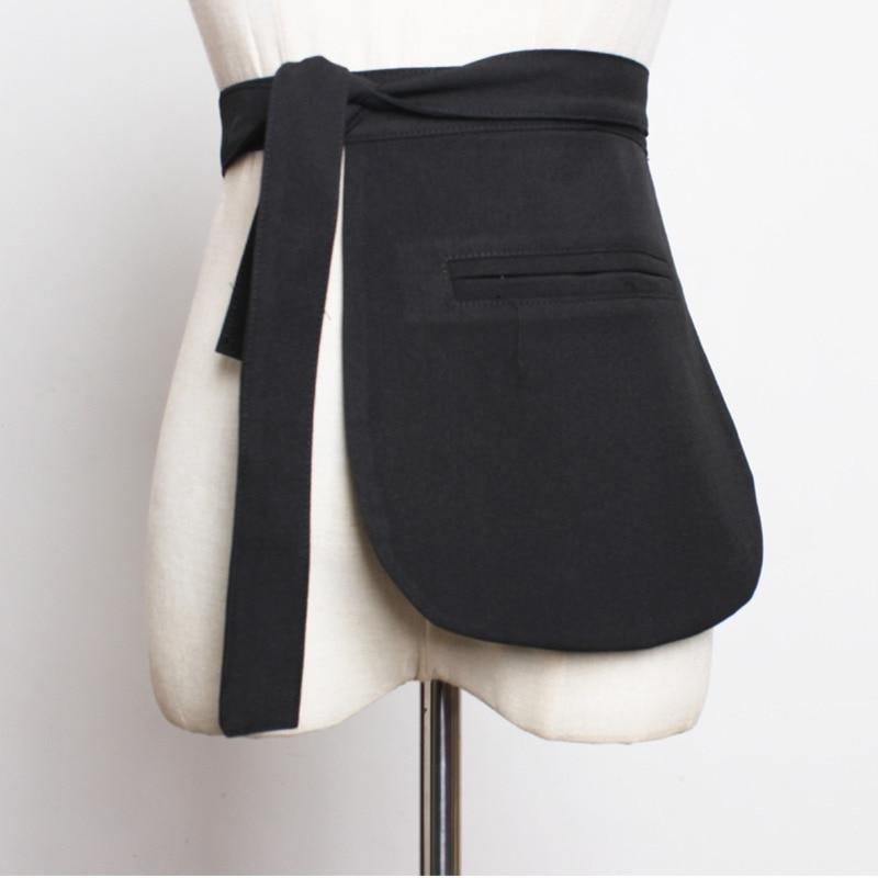 LANMREM 2020 New Fashion Suit Pocket Straps Girdle For Women All-match Irregular Cummerbunds Female's Clothing Accessories YG419