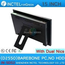 Все в одном barebone desktop pc с 5 провод Gtouch 15 дюймов LED touch Dual 1000 Мбит/С Сетевых Карт