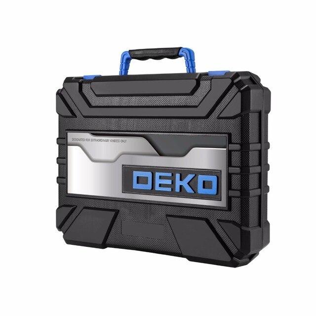 DEKO BMC Plastic Tool Case for 20V Cordless Drill GCD20DU3 with 85 Drill Bits Diver Bits Holder (not include GCD20DU3/battery) 4