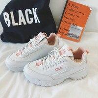 2018 Harajuku White Shoe Women Fashion Brand Retro Platform Sneakers Lady Autumn footwear Black Breathable chaussure Feminino