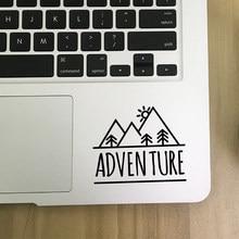 Adventure Quote pegatinas para computadora portátil decoración teléfono móvil pegatina, montaña Camping vinilo pegatina Outdoorsy decoración de ventana de coche