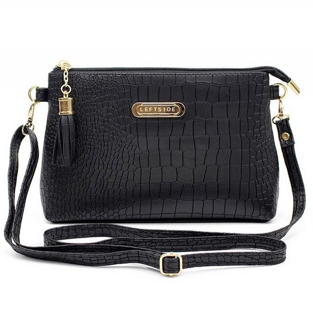 Женская знаменитая брендовая модная кисточка маленькие сумки Горячая  Распродажа крокодил женские кожаные сумки через плечо мини 29ed2f3632a