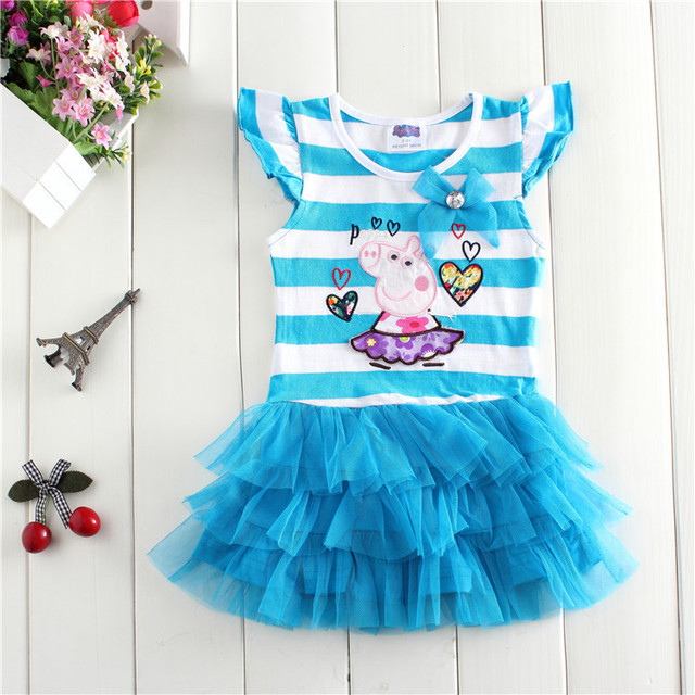 a4ec03442f8d 2015 New peppa pig summer cotton children clothing girls princess ...