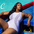 Hot Black White Colors Sexy Women One Pieces Swimsuit Mesh Bathing Clothing Ladies Summer Plus Size Swimming Wear L,XL,XXL,XXXL