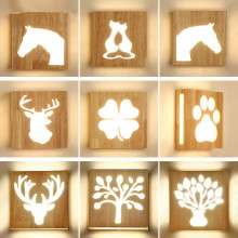 Nordic Solid Wood Led Wall Lamp Lustre Glass Living Room Light Fixtures Bedroom Lights Corrdior Sconce