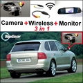 3 in1 Специальный Вид Сзади Камеры Wifi + Беспроводной Приемник + зеркало Монитор Простая Система Парковки Для Porsche Cayenne 9 PA 955 957 958