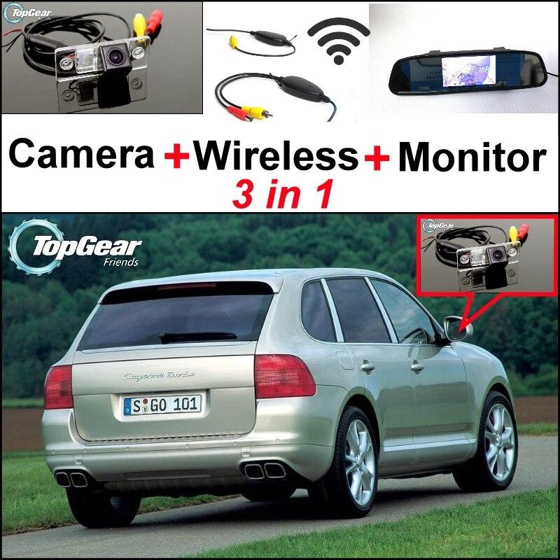 3 в 1 специальный вид сзади WiFi камера + беспроводной приемник + зеркало монитор простая система парковки для Порше Cayenne 9PA 955 957 958