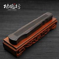 Incense wood seven string zither, lying incense censer ebony quality furnace wood openwork incense box