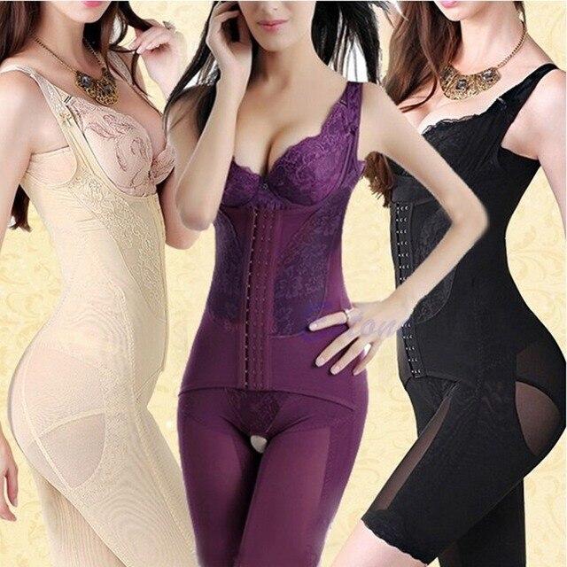 New Hot Mulheres Sem Costura Terno Firm Tummy Controle Underbust Cincher Cintura Shaper Corpo Inteiro