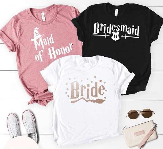 f25d709b3 OKOUFEN Bridal Bachelorette Party Bride Bridesmaid Maid Of Honor T-shirt  Tumblr New Fashion Women