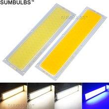 120x36MM 12W COB LED Streifen Licht Birne Lampe DC 12V 1300LM Blau Warme Natur Cold weiß COB Matrix für DIY Arbeit Lichter