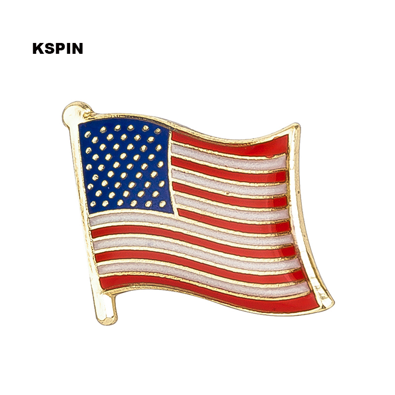 U S A flag lapel pin badge pin 300pcs a lot Brooch Icons KS 0121