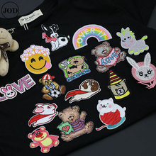 dog cat cartoon embroidered patch iron on clothes applique on garment patches for clothing stripe accessories shirt DIY sew on girl 6x4cm small embroidered patches for clothing iron on clothes patch children diy sew on applications applique sewing cartoon
