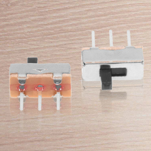 50 Pcs SS12D00G3 2 Position SPDT 1P2T 3 Pin PCB Panel Mini Vertical Slide Switch