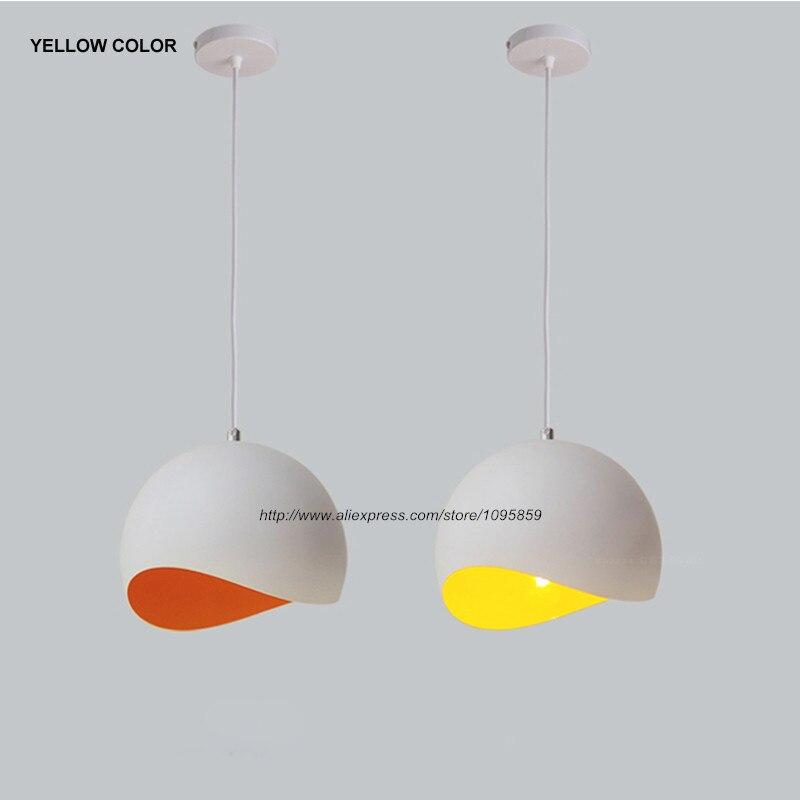 Egg Shell Modern Pendant Light Fixture Aluminum Ceiling Lamp Kitchen Hanging Lighting White D20cm (