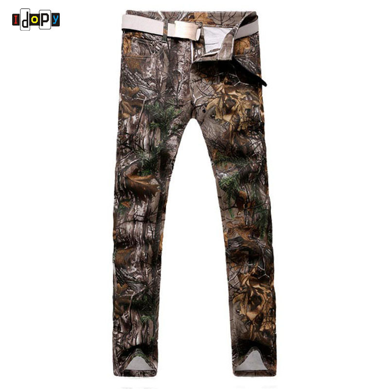 New Brand Casual Mens Jeans Slim Straight Jeans Men Fashion Designed Hand Painted Trees Denim Pants Long Trousers For Men