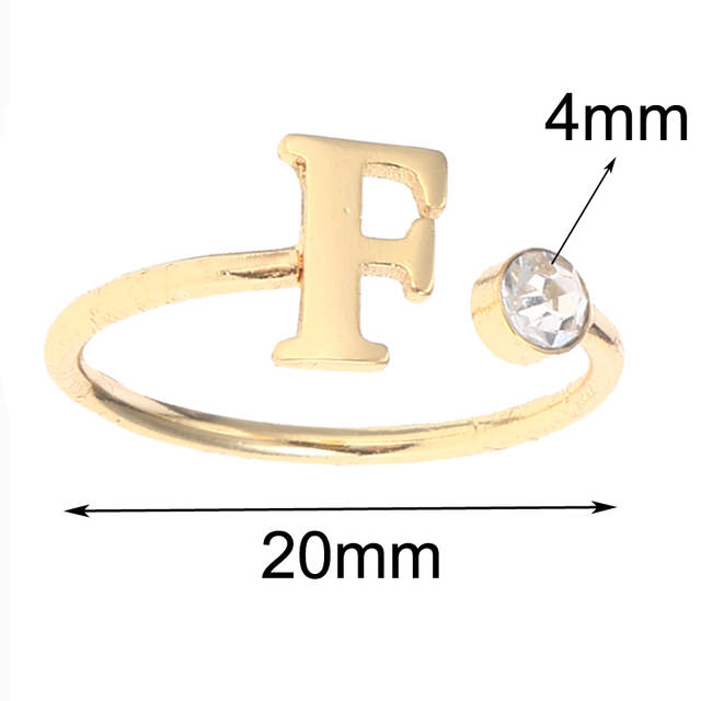 2bce5505d2b61 Duoying Engagement Ring Zirconia Finger Rings Women Jewelry Birthstone Open  Rings Personalized Alphabet Women Gift Vanlentine