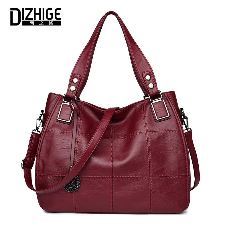 DIZHIGE Luxury Handbags Women Bags Designer Handbag High Quality Leather Handbags Ladies Casual Tote Shoulder Bag Famous Brand luxury famous brand women female ladies casual bags leather hello kitty handbags shoulder tote bag bolsas femininas couro