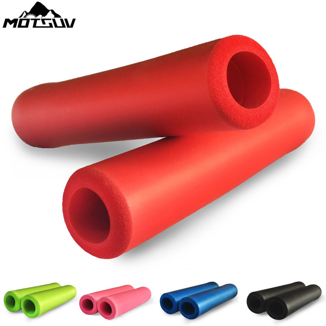 Bicycle Ultraight High Density Foam Silicone Sponge Handlebar Grip for Mountain bike XC/AM Anti-skid shock-absorbing Super Soft