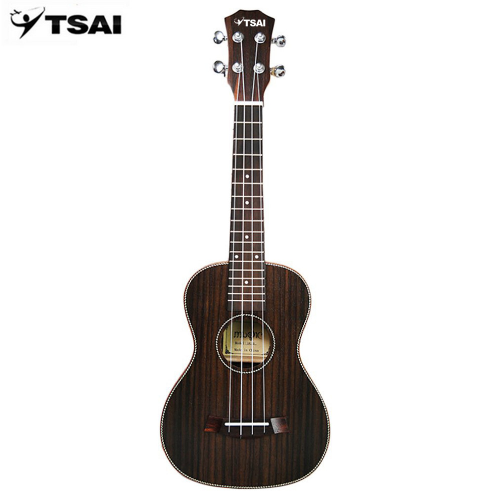 TSAI 23 Inch Rosewood Ukulele Hawaiian Beginner Guitar Ukulele Uke Strings Four-strings Professional Musical Instruments guitar 23 inch green mahogany ukulele hawaiian guitar uke for beginner adult with bag strap tuner strings picks
