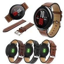 Para original xiaomi huami amazfit ritmo pulseira de relógio couro genuíno substituição pulseira relógio inteligente para amazfit gtr 47mm