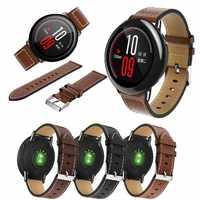 Per Originale Xiaomi Huami Amazfit ritmo Orologio Cinturino In Vera Pelle di Ricambio smart watch Band per Amazfit Ritmo della cinghia Del Braccialetto