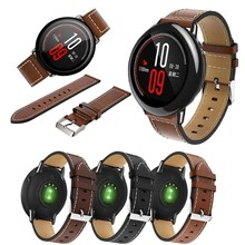 עבור מקורי Xiaomi Huami Amazfit קצב שעון רצועת עור אמיתי החלפת חכם שעון להקת עבור Amazfit GTR 47MM צמיד