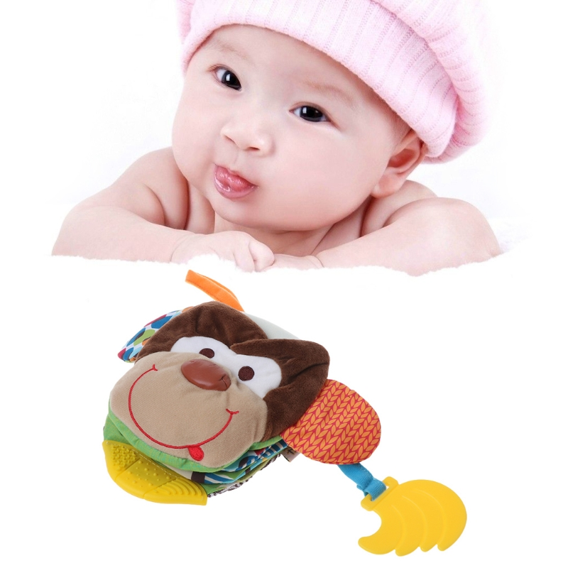 Baby Quiet Book Teether Monkey Cartoon Educational Fabric Kids Development Toys #0503#