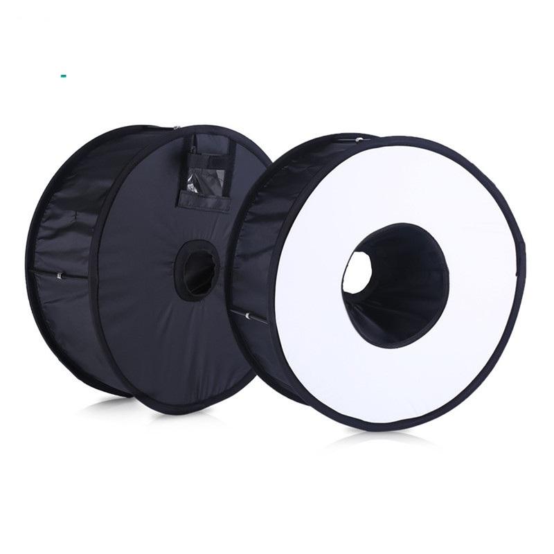 Lightdow 45cm Foldable Ring Speedlite Flash Diffuser Macro Shoot Round Softbox for Canon Nikon Sony Pentax Godox Speedlight 4