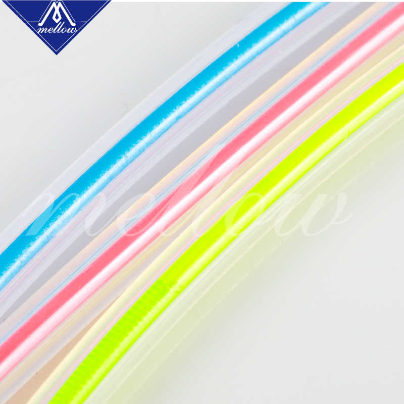 Mellow High Transparency PTFE Tube Teflonto MMU2 0 for prusa i3 mk3 ender-3  anet mk8 Bowden Extruder 1 75mm filament ID2mm OD4mm