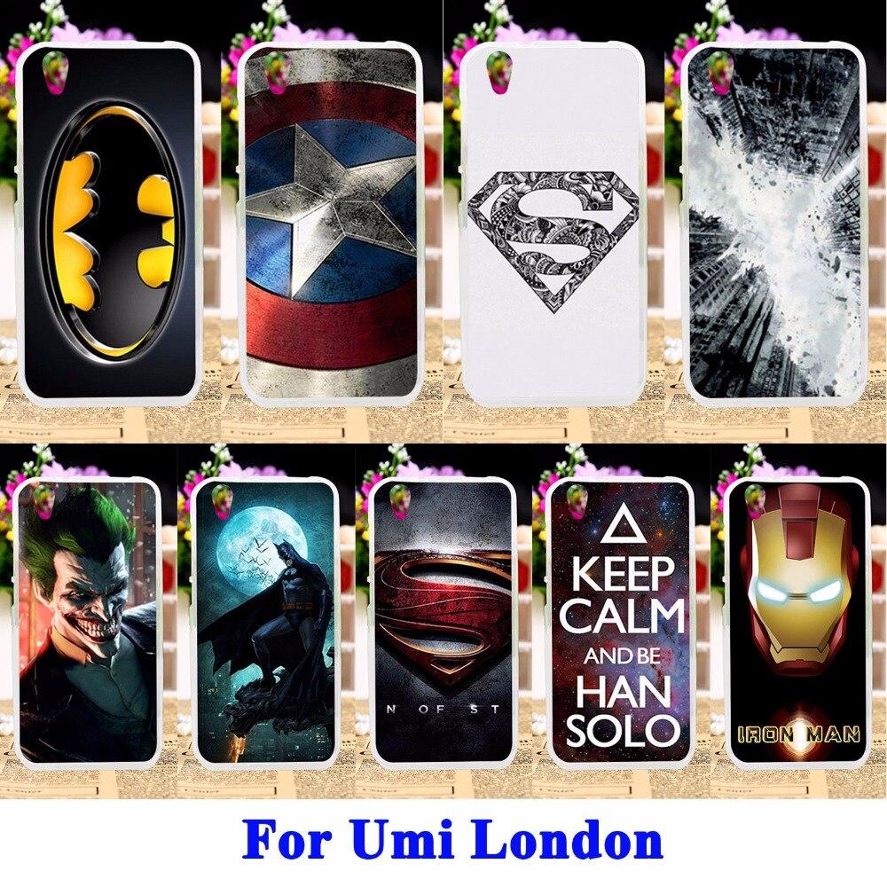 e06853914fba Akabeila кремния мобильного телефона Чехлы для UMI London смартфон MT6580  охватывает Капитан Америка Бэтмен кожи основа для UMI London