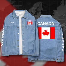 Canada Canadians CA CAN denim jackets men coat men's suits jeans jacket thin jaquetas 2017 sunscreen autumn spring nation flag(China)