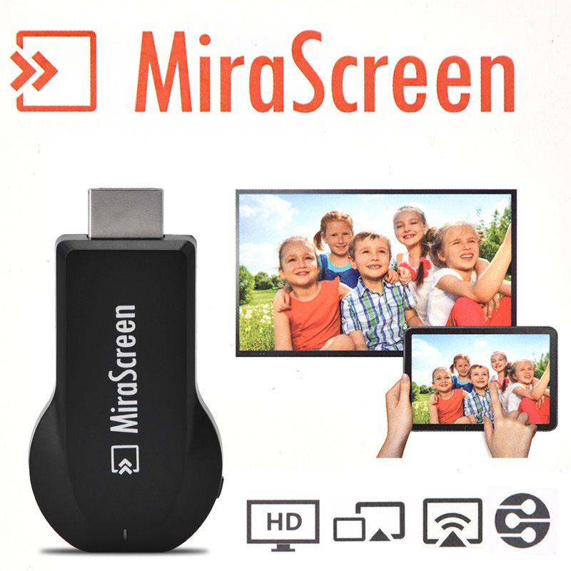 Mirascreen 1080P HDMI Dongle Wireless Receiver DLNA Airplay Miracast Chromecast Mirascreen For Apple Android TV Stick Youtube