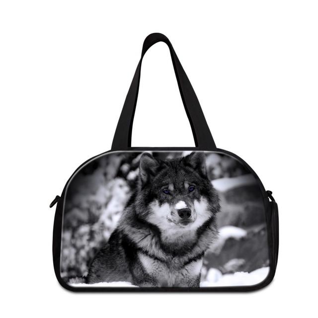 Dispalang Fresco Lobo viajan bolsas de hombro para Los Hombres de Los Animales de Diseño grandes bolsos de lona para Niños Adolescente totalizador bolsas de lona entrenamiento bolsas