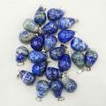 2016 New Fashion hight quality Natural  Lapis Lazuli round drop charms pendants for jewelry making 24pcs/lot wholesale Free