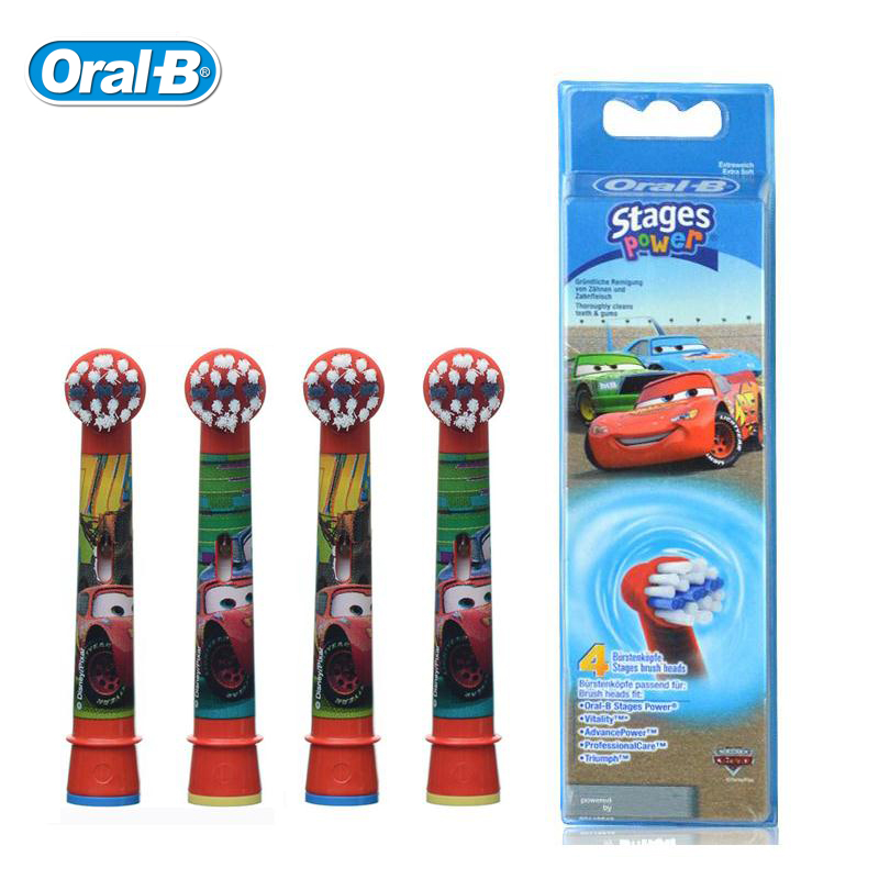 Children Kids Replaceable Toothbrush Heads for Oral B Kids Electric Toothbrush Replacement Brush Heads Suits  D12 EB10 DB4510 4pcs tooth brush heads replacement children kids brush heads fit for oral pro health b stages dory electric toothbrush